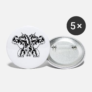 Muscle Unicorn workout gear gym fitness - Grands badges