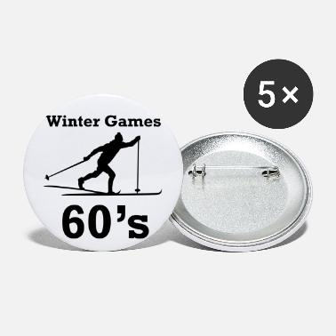 Winter Games winter games 60s ski fond - Large Buttons