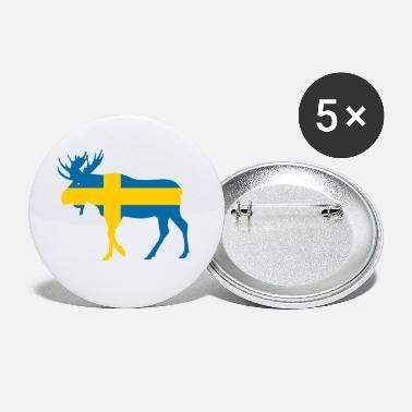 Sweden Vacation Sweden Sverige Elk for Vacation & Travel - Large Buttons