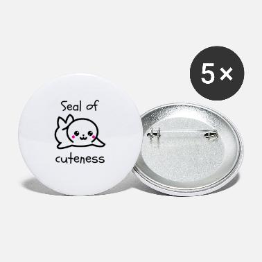 Seal-animal Seal Animal Seal Cuteness Gift - Large Buttons
