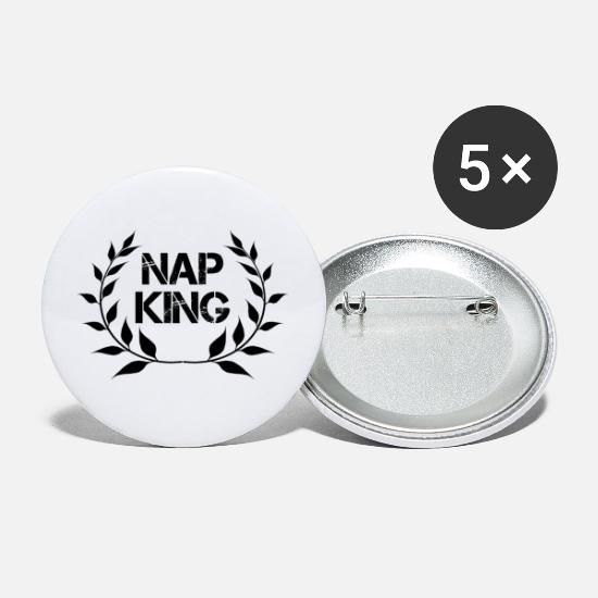 Sleep Buttons - King of the Sleepyheads - Large Buttons white