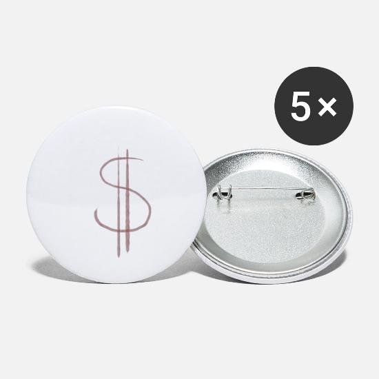 Squat Badges - signe dollar - Grands badges blanc