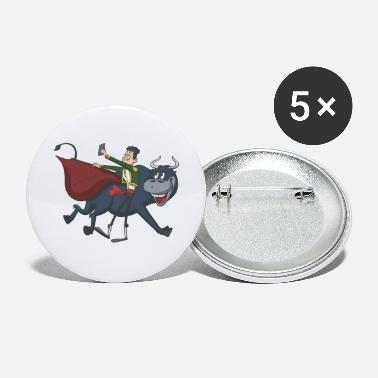 Bullfighting Bullfighter Matador self portrait - Large Buttons