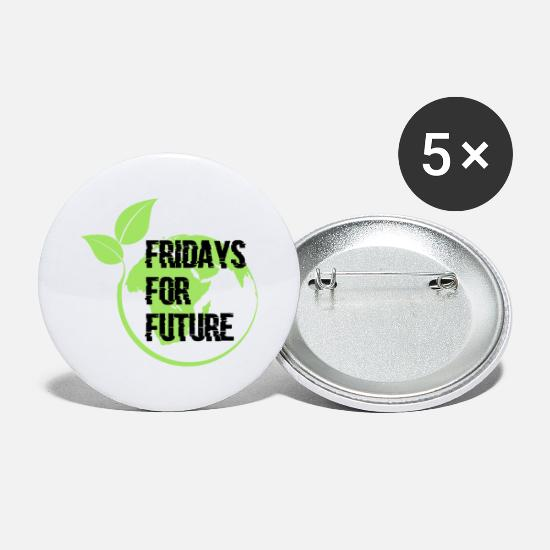 Gift Idea Buttons - Fridays for Future Gift - Large Buttons white