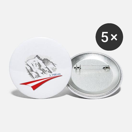 Mountains Buttons - Achim's Grossglockner - Large Buttons white