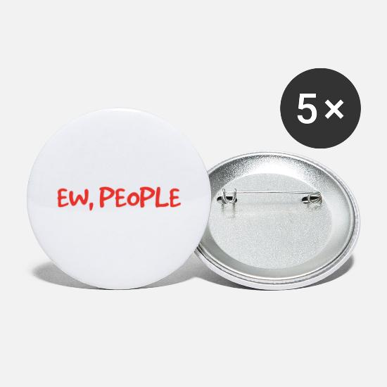 Incerto Bottoni & Spille - Ew People introverso regalo - Spille grandi bianco