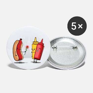 Food Collection V2 Hot Dog Love Ketchup - Large Buttons