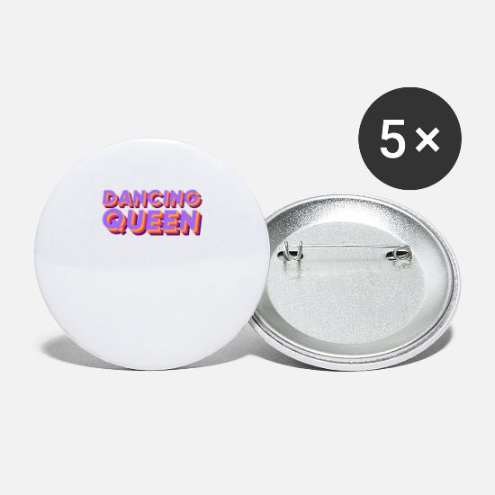 Danser Buttons - Dancing Queen Disco Dance Party Girls cadeau - Buttons groot wit