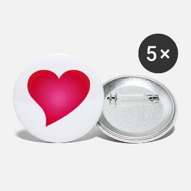 Cuore Herz / Heart / cuore / corazon - Buttons groß