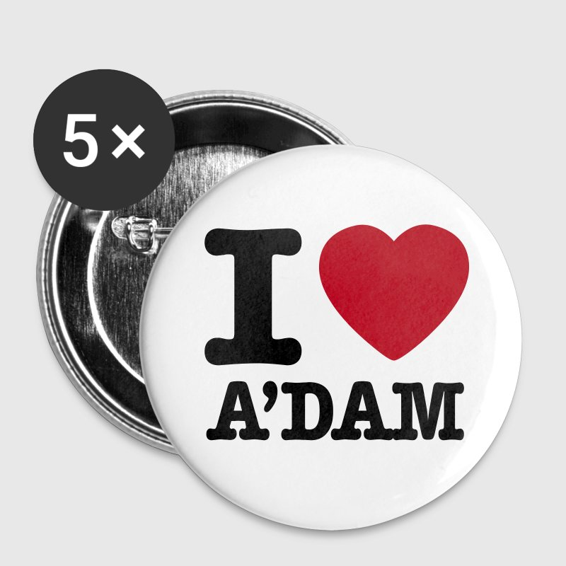 i love amsterdam - Buttons groß 56 mm