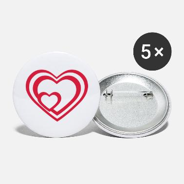 Heart Heart Hearts - Large Buttons