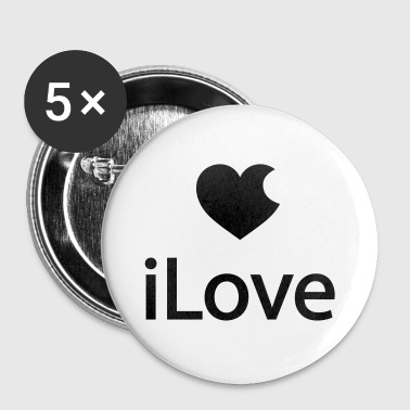 iLove - Badge grand 56 mm