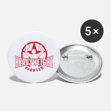 Heavyweight heavyweight fighter - Large Buttons