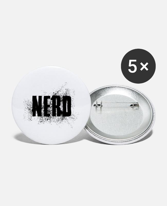 Mateo Buttons - NERD status opinion saying shirt gift idea - Large Buttons white