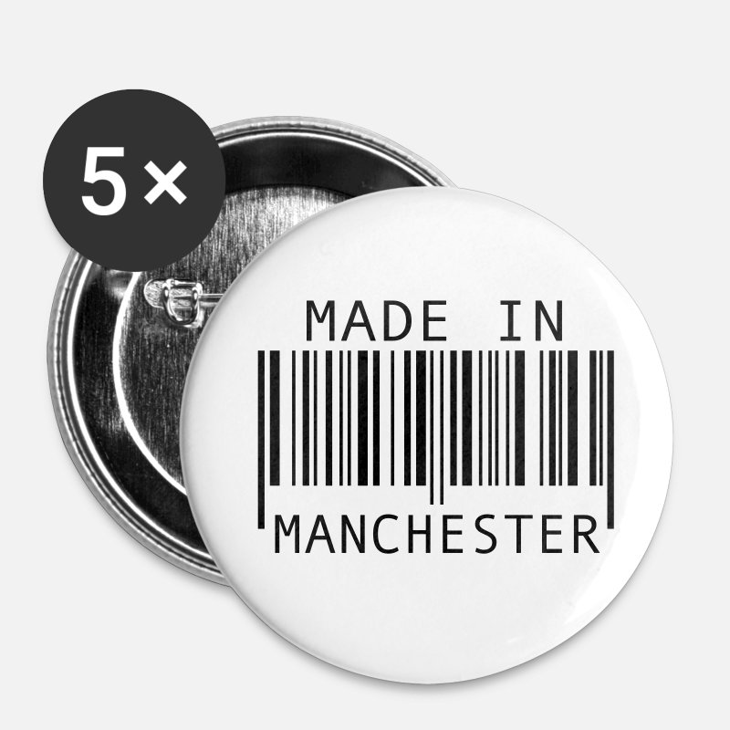 Manchester Buttons - Made in Manchester - Large Buttons white