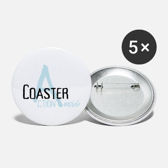 Cool Buttons - Roller Coaster Action - Coaster Action inside - Large Buttons white