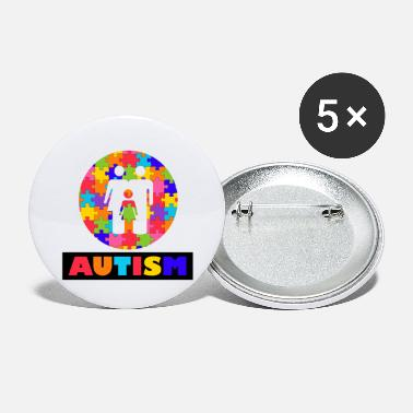 Autism Month Vintage Autism Autism Awareness Month - Large Buttons