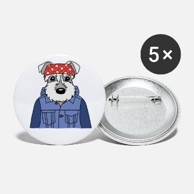 Dog Cool Funny Dog Owner Mate Gassi - Large Buttons