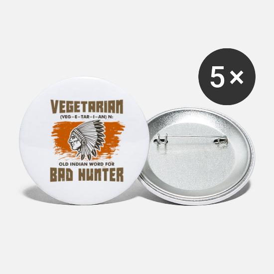 Anti Buttons - Anti vegans - Large Buttons white