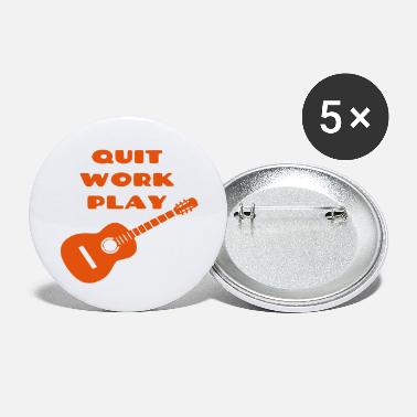 Guitarist Stop working, play guitar, guitarist, instrument - Large Buttons