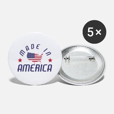 Stars And Stripes Fremstillet i USA America Stars and Stripes - Store buttons