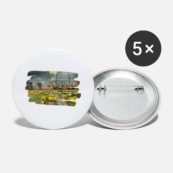 Radioactive Buttons - Anti nuclear power - Large Buttons white
