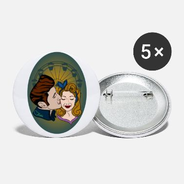 Rockabilly-Couple at Ferris Wheel - Large Buttons