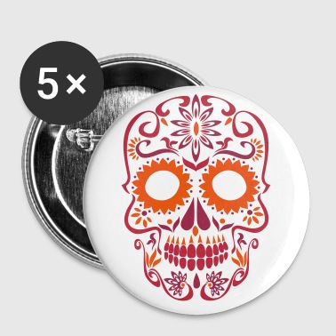 sugar skull day of the dead - Buttons large 56 mm