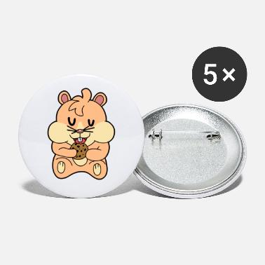 Rodent Hamster rodent rodent hungry fantasy - Large Buttons