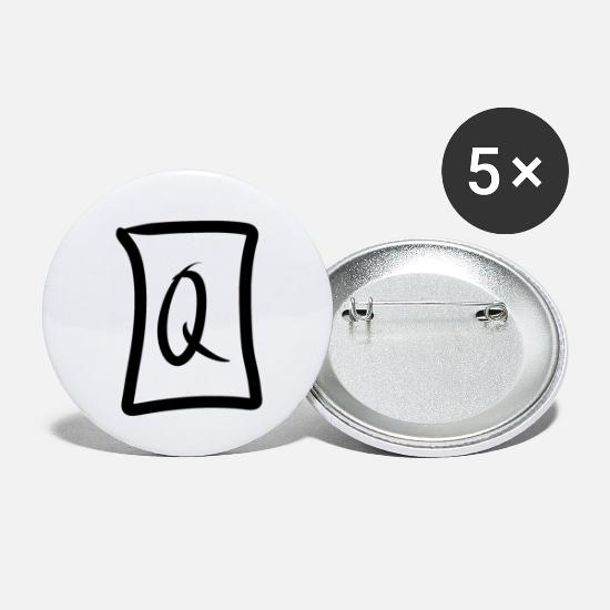 Mist Buttons - Letter Q design. - Large Buttons white