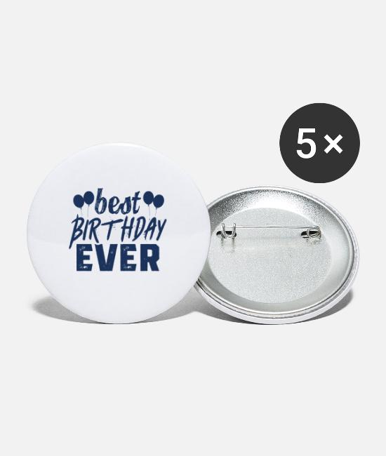 Birthday Cake Buttons - Birthday celebration - Large Buttons white
