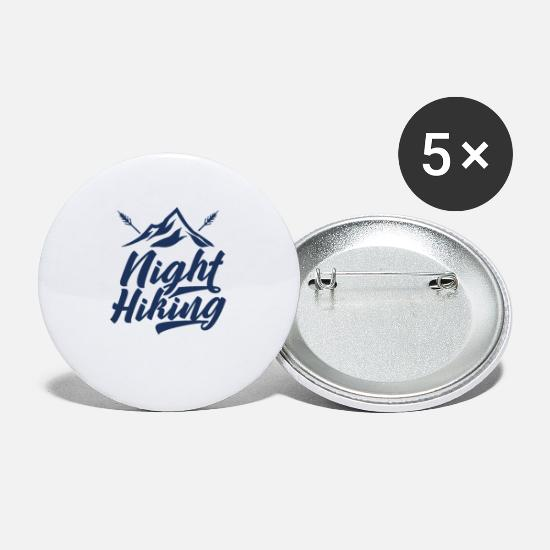 Gift Idea Buttons - Hikers night night hike team night hikes - Large Buttons white