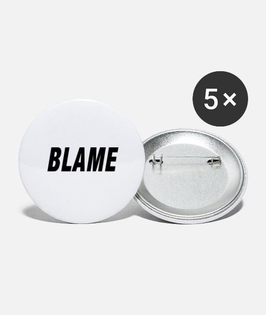 Rap Buttons - Blame Urban Fashion - Buttons groot wit