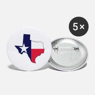 Lone Star Texas Flag Texas Map Outline and Flag - Large Buttons