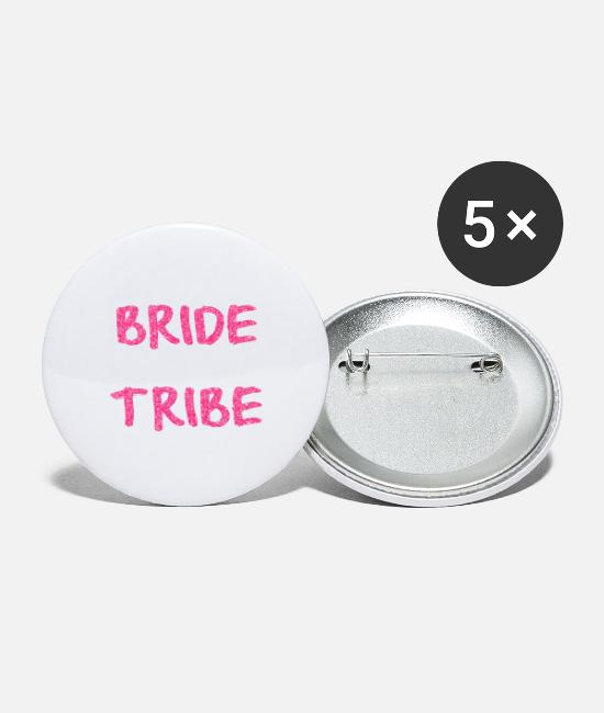 Bruidegom Buttons - BRIDE TRIBE - Buttons groot wit
