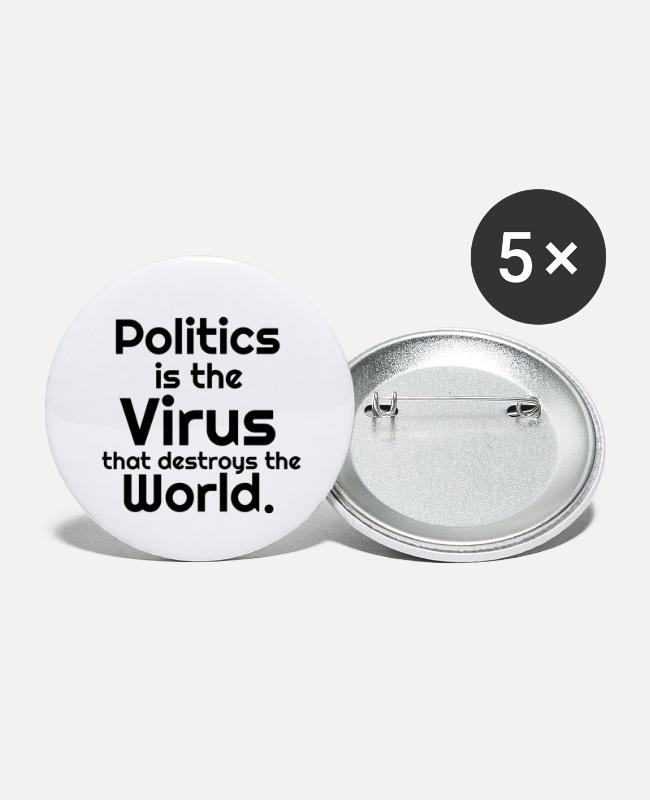 Virus Buttons - Politics - Large Buttons white