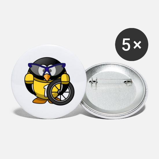 Fitness Buttons & badges - racer - Store buttons hvid