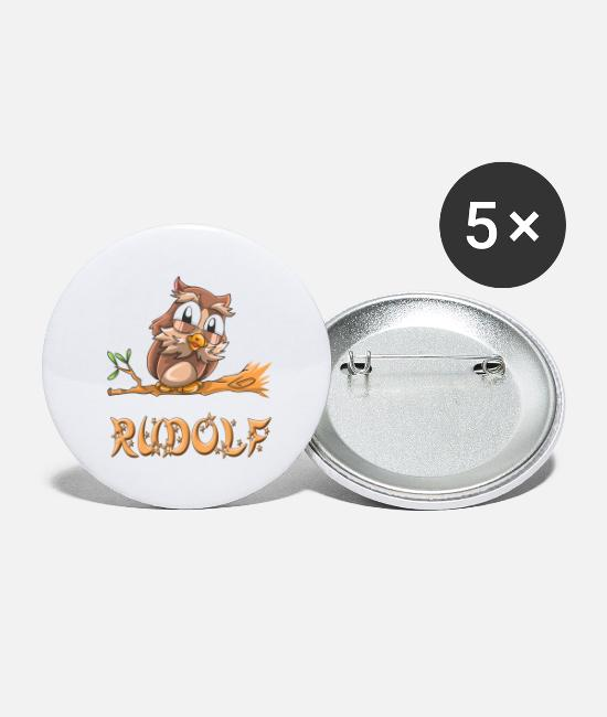 Rudolf Owls Buttons - Owl Rudolf - Large Buttons white