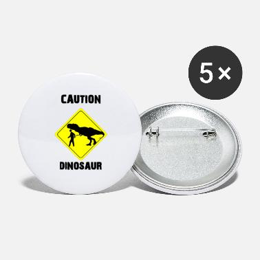 Age Caution Dinosaur (Stone Age Lovers) - Large Buttons