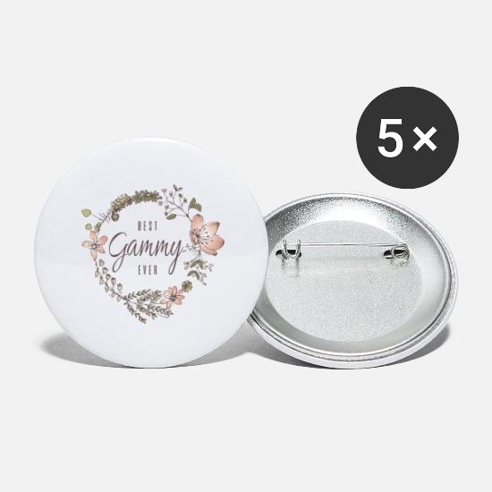Granny Buttons - Best Gammy Ever - Large Buttons white