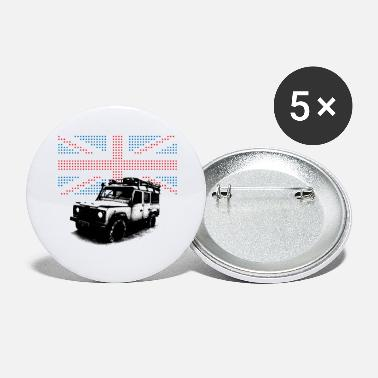 Land Rover Defender Union Jack Landie Defender - Autonaut.com - Large Buttons