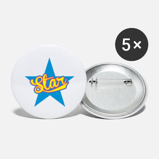 Étoile Badges - star - Grands badges blanc