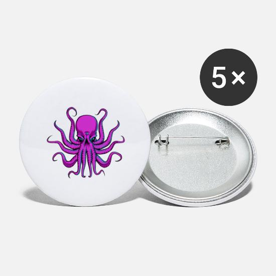 Trippy Buttons - All seeing Octopus - Large Buttons white