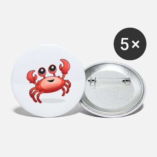 Crab Buttons - Crab design - Large Buttons white