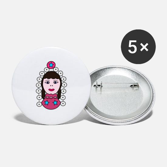 Interessant Buttons & badges - Tyrkisk folklore Kayseri - Store buttons hvid