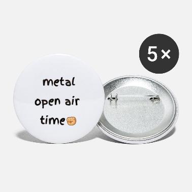 Shouter Metal open air festival time in summer - Large Buttons