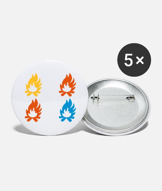 Tent Buttons - Campfire fire - Large Buttons white