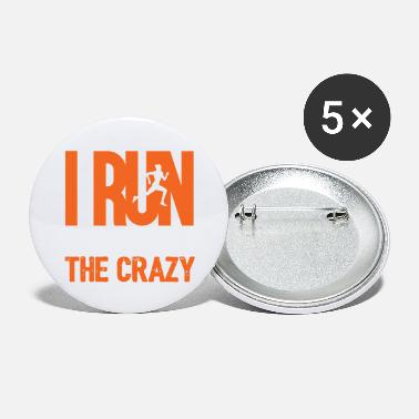 Officialbrands I Run To Burn Off Crazy - Large Buttons