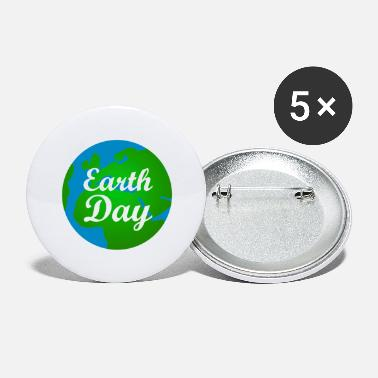 Forurening Earth Day Globe - Store buttons
