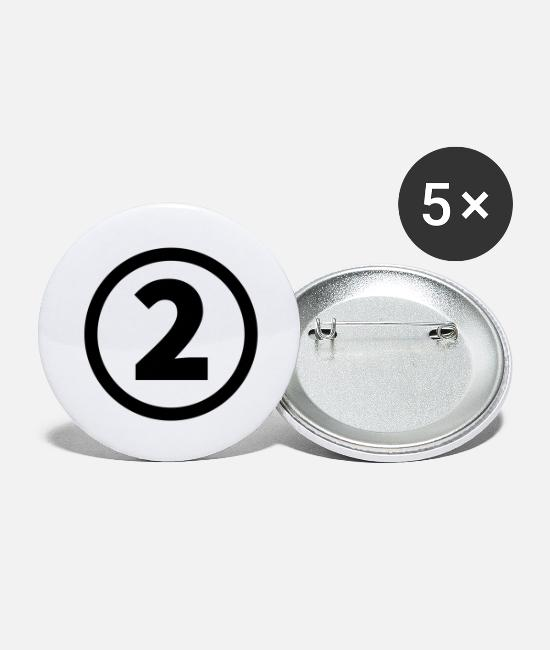 Sport Buttons - number two - Large Buttons white